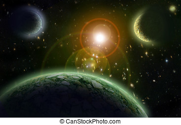 Planets into open space