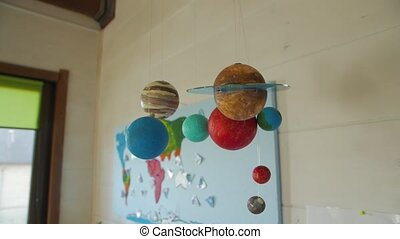 Planets of solar system model geography class