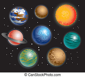 Planets Solar System - Various Planets Solar System