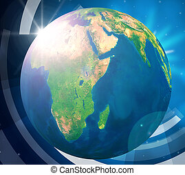 Planets World Represents Solar System And Globally - World...