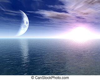Planetscape - Digital created scifi scenery.