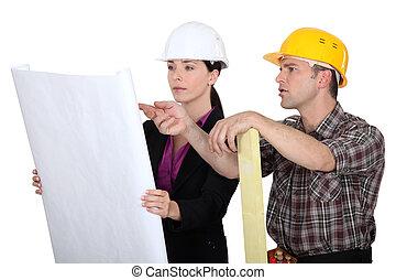 planificação, a, construção