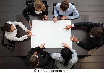 planificação, equipe negócio