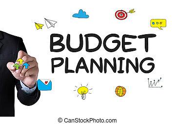 planificação, orçamento