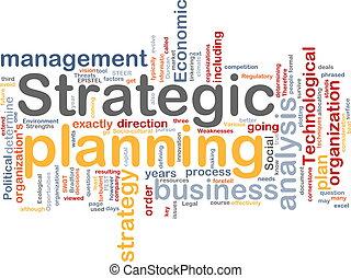 planificação, palavra, nuvem, estratégico