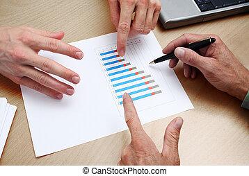 planificação, pessoas negócio
