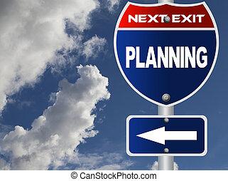 planificação, sinal estrada