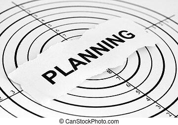 planificación, blanco