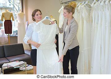 planificación, el, traje de novia