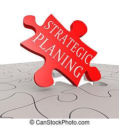 planificación estratégica, rompecabezas