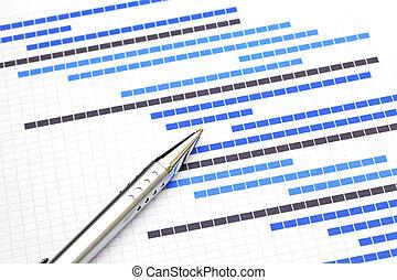 planificación, gráfico, para, empresa / negocio, proyecto