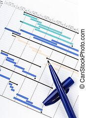 planificación, gráfico, para, financiero, proyecto