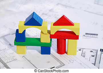 planificación, nueva familia, casa