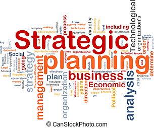 planificación, palabra, nube, estratégico