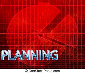 planificación, presupuestación, ilustración