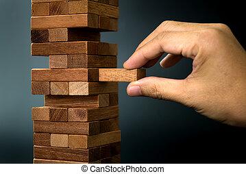 planificación, riesgo, y, estrategia, en, empresa / negocio