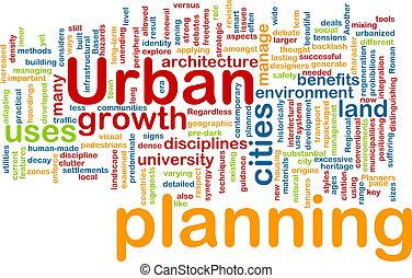 planificación, urbano, concepto, plano de fondo