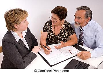 planificador, financiero