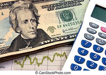 planification, calculatrice, années vingt, financier