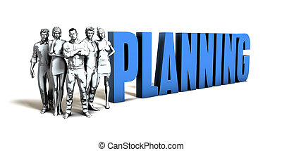 planification, concept, business