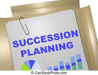 planification, concept, -, business, succession