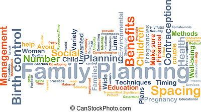 planification, concept, famille, fond