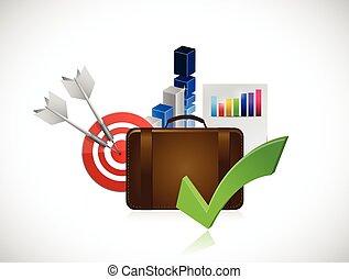 planification, concept, stratégie commerciale