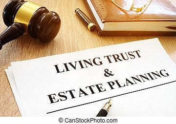 planification, desk., confiance, formulaire, vivant, propriété