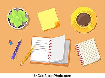 planification, ensemble, icônes, voyage, illustration, vecteur