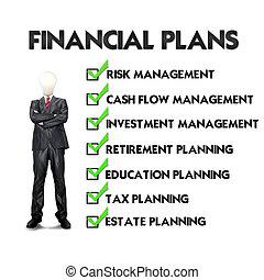 planification, financier