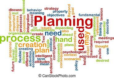 planification, mot, nuage