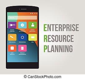 planification, ressource, entreprise