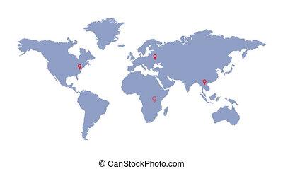 planisphère, geolocation, communication., logistics., ...