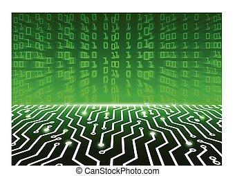 plank, abstract, high-tech, illustratie, circuit, vector, achtergrond, technologie