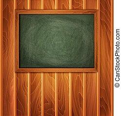 plank, achtergrond, houten, vector, school