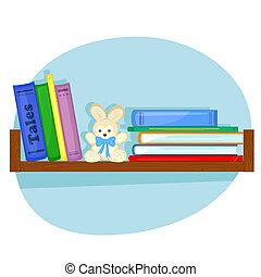 plank, boekjes , kinderen