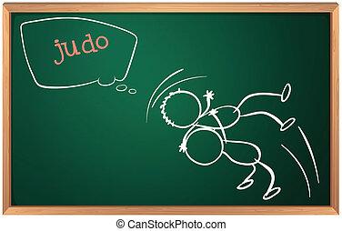 plank, judo, twee mensen
