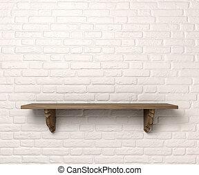 plank, op, een, muur, voorkant