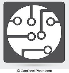 plank, technologie, circuit, pictogram