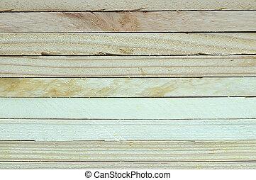 plank., trä, skorsten, nära