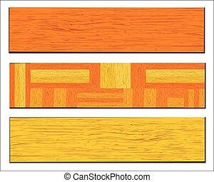 plank, vector, vrijstaand, achtergrond, witte