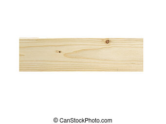 Plank wood isolated on white background