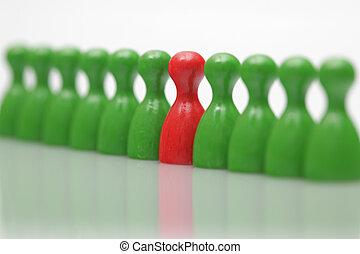 planke boldspil stykke, -, symbol, by, ledelse