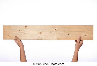 planke, halten hände