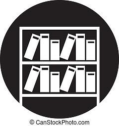 planken, boekjes , illustratie, vector, eenvoudig, retro
