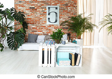 planken, van, houten, dozen