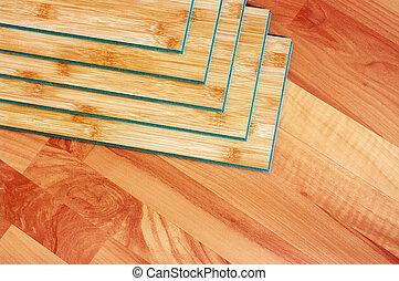 plankor, trä