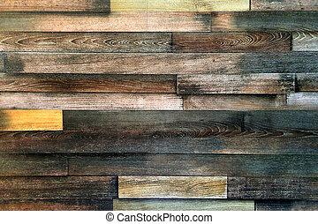planks., parete, vecchio, struttura, legno, fondo, legno