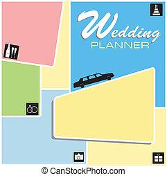 planläggare, bröllop