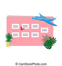 planläggare, noteringen, illustration, vektor, plats, varje vecka
